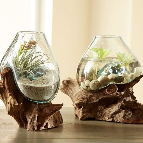 Naturally Sculptural Reclaimed Teak Roots Become The Base