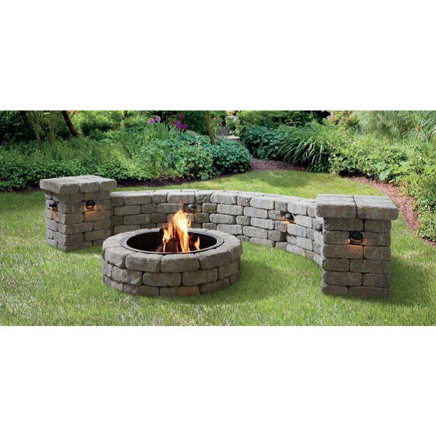 Shop allen + roth Allegheny Flagstone Fire Pit Patio Block