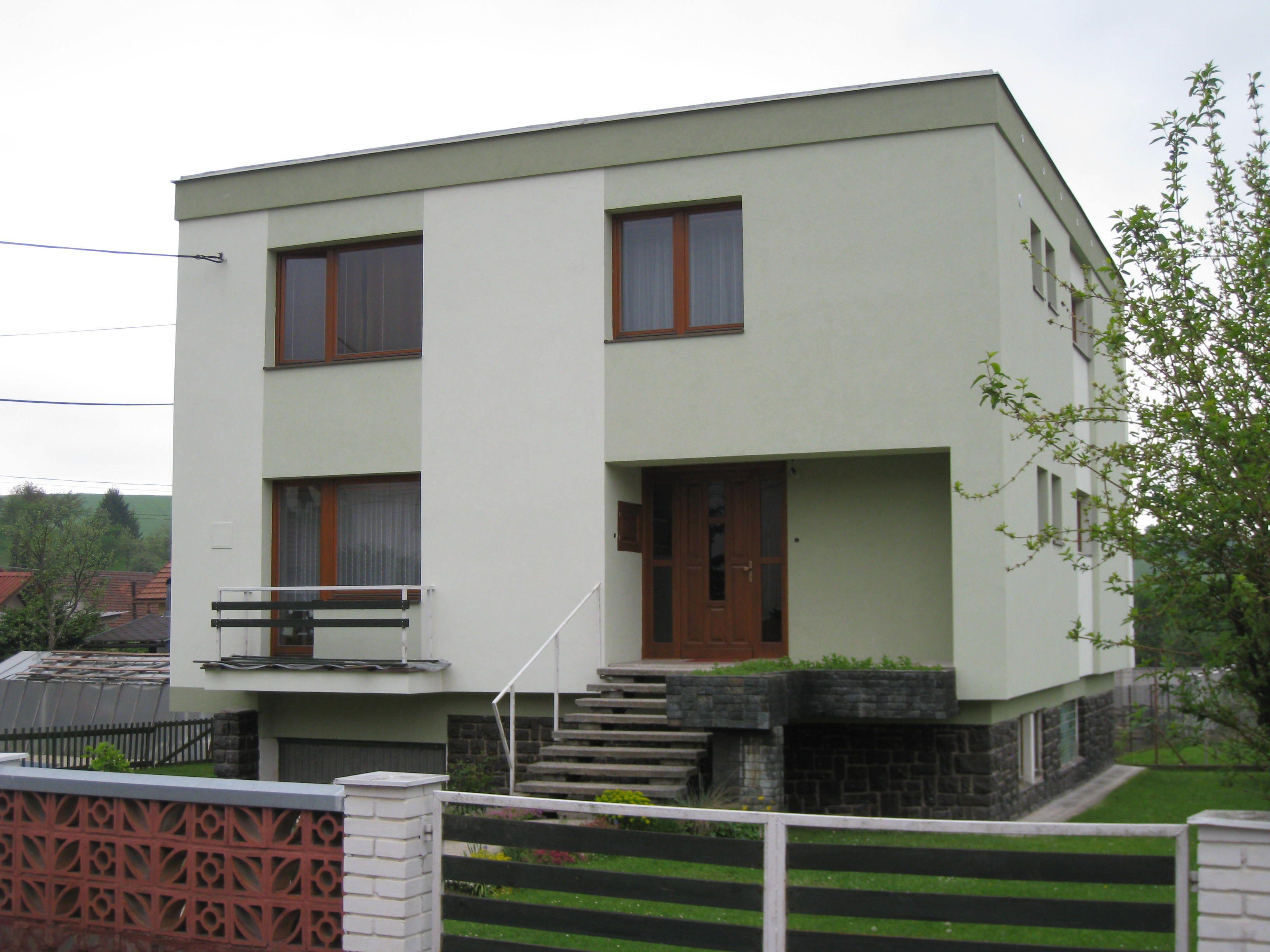 Fasáda exteriéru rodinného domu Realizované projekty