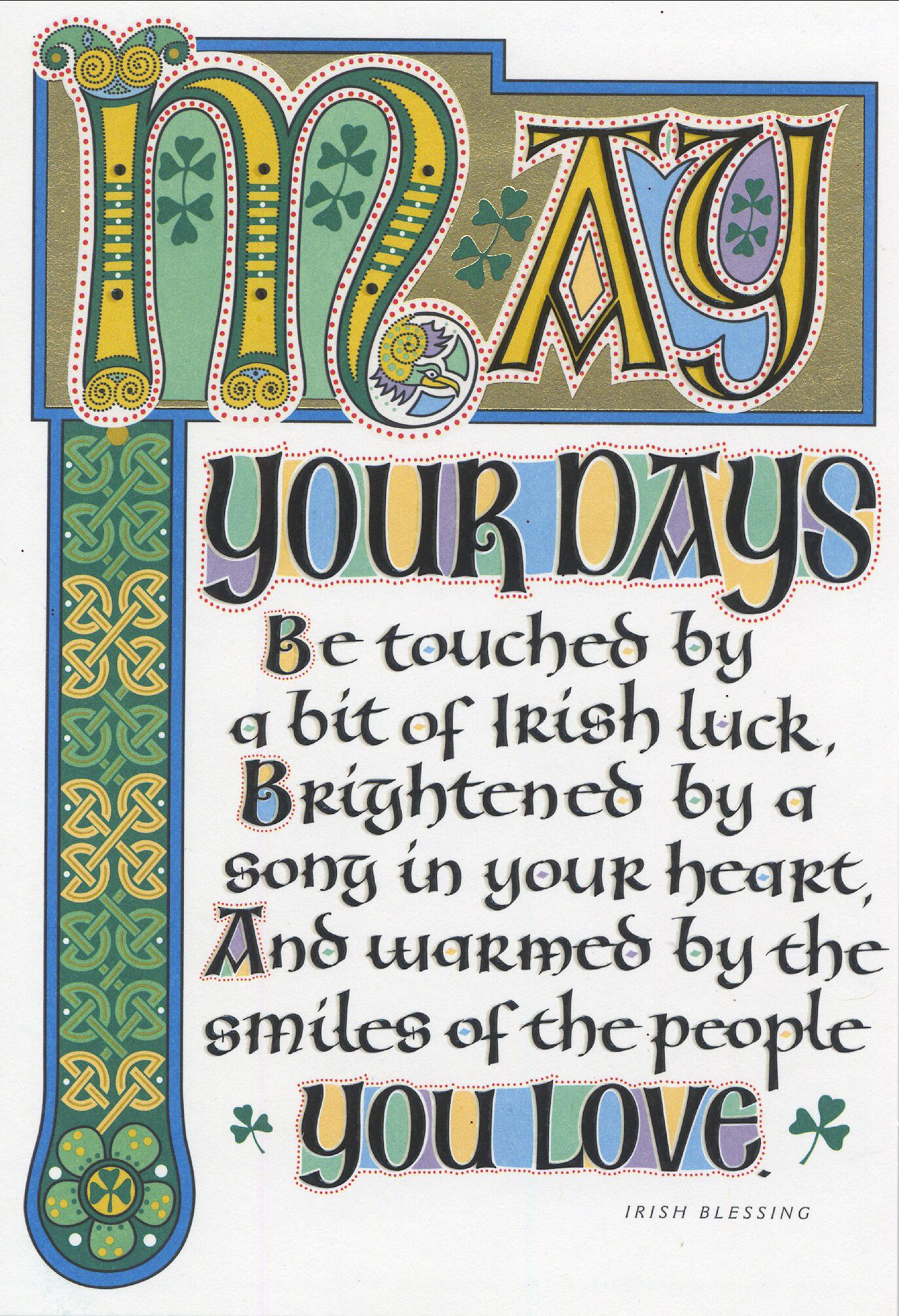 Share a traditional Irish blessing. St. Patrick's Day
