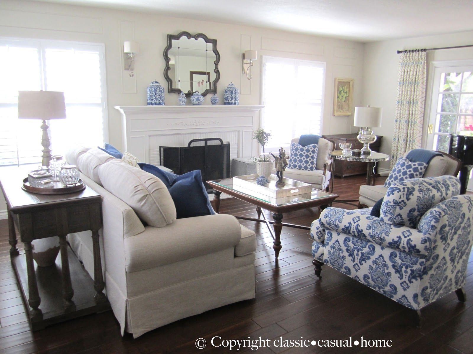Blue, White And Silver: Timeless Design