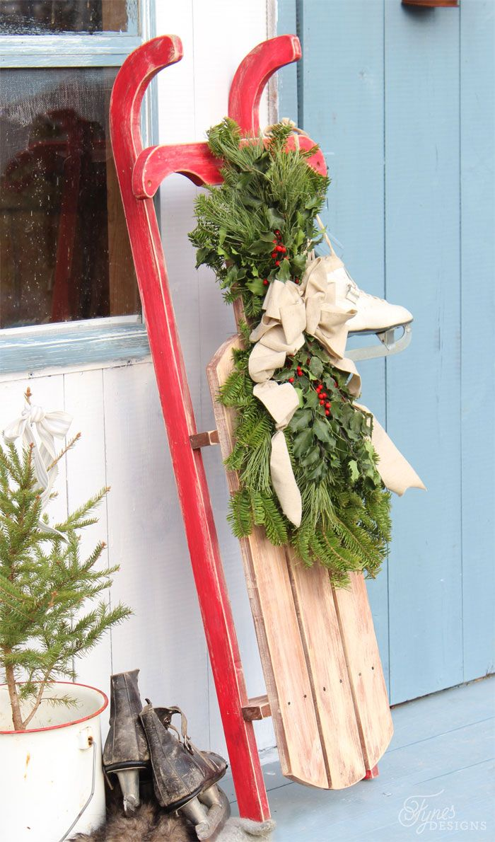 DIY 10 Vintage Sled Sled Front Doors And Christmas Ideas