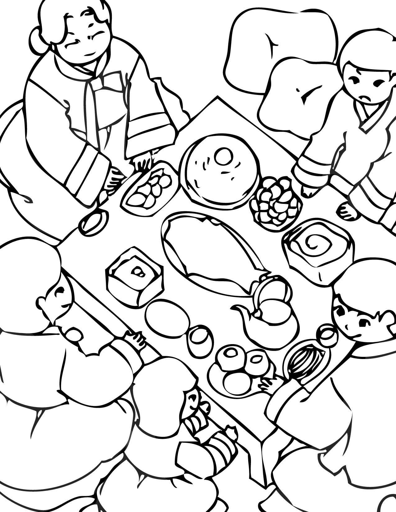 Korean Coloring Pages