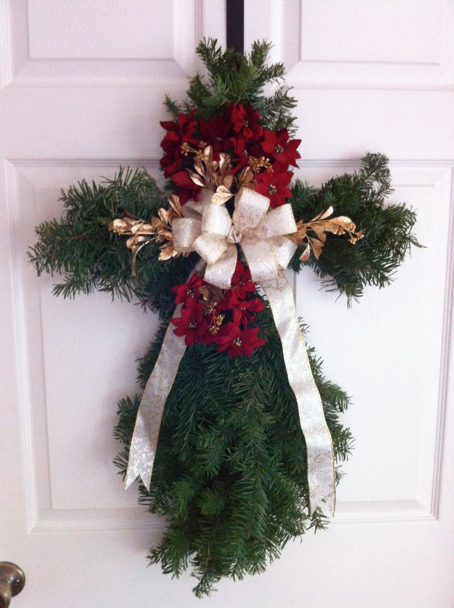 Christmas cross wreath Made this last year with extra