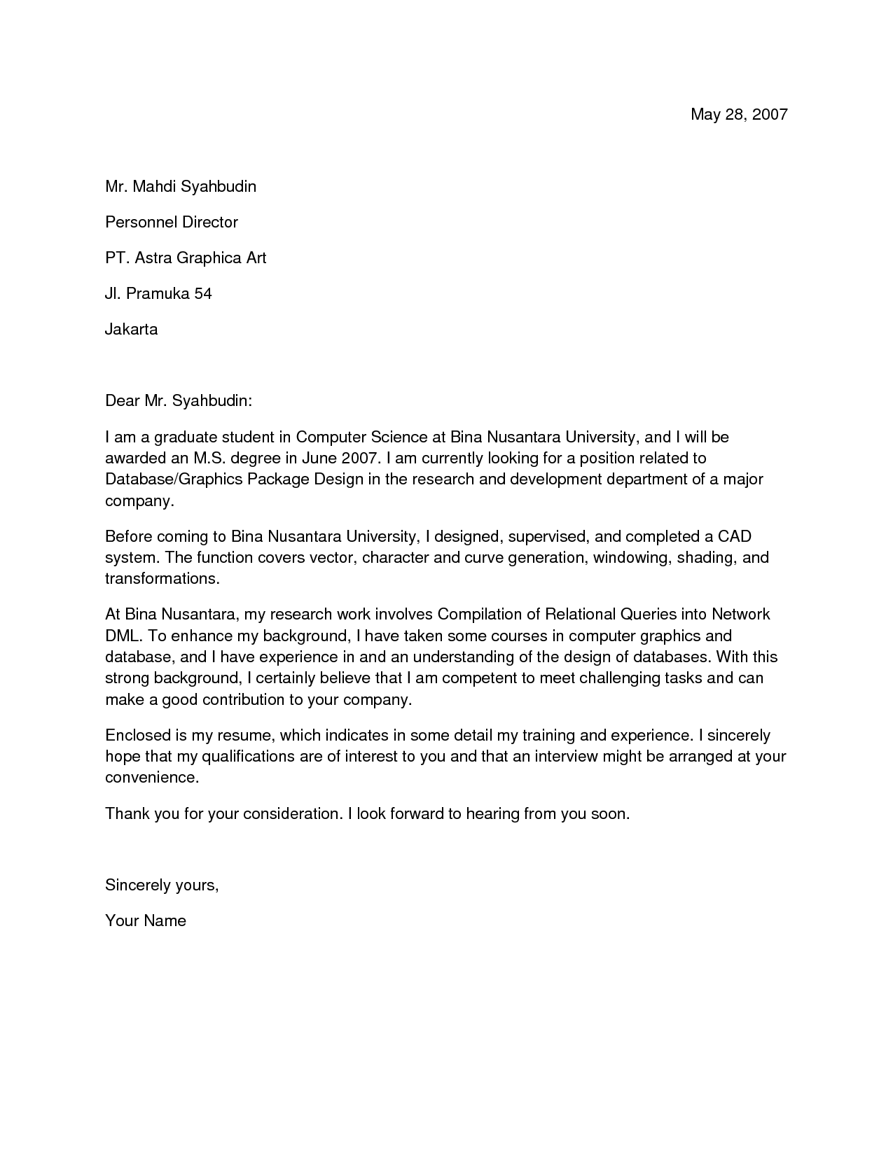 for computer science majors sales computer science computer cover letter examples computer science