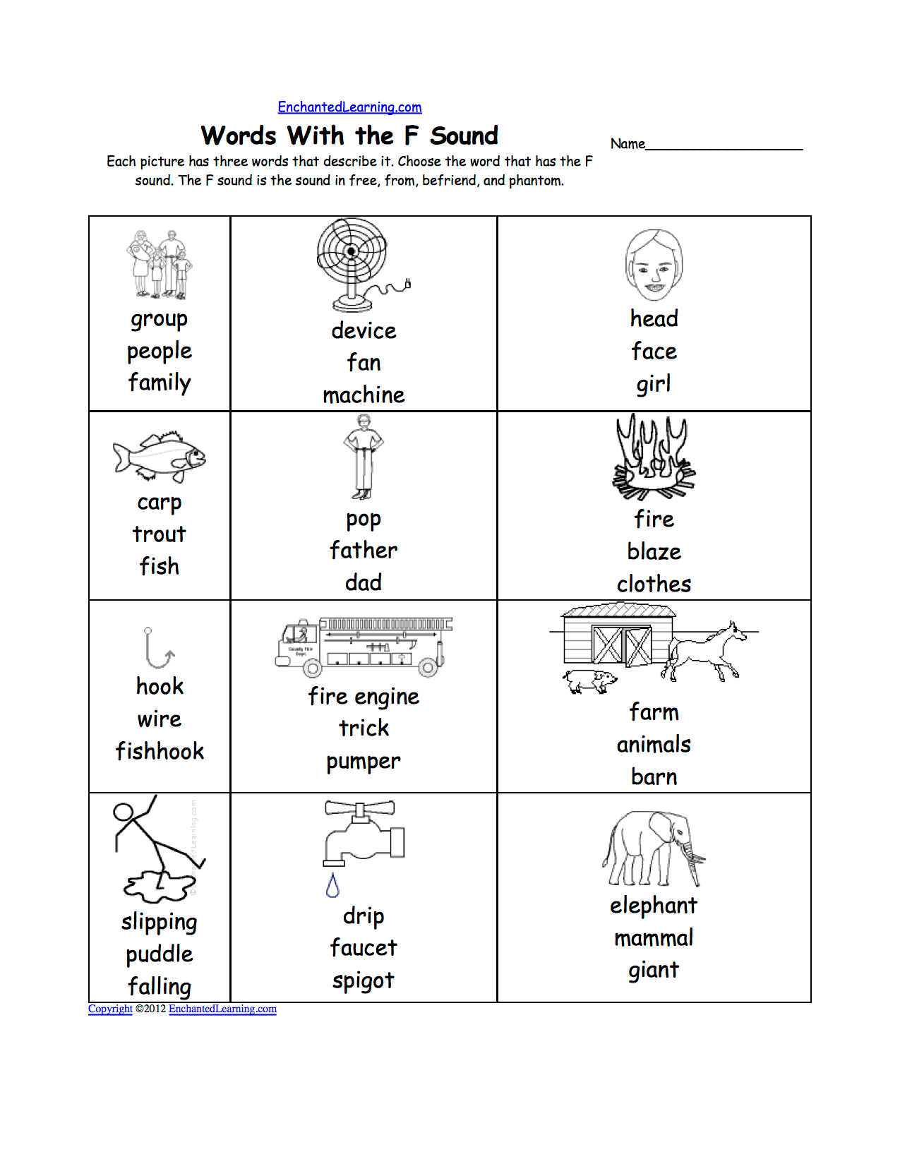 F Sound Worksheet