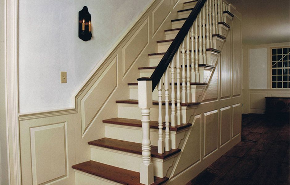 Cape Cod/Colonial: Staircase, Raised Paneling, White Wash
