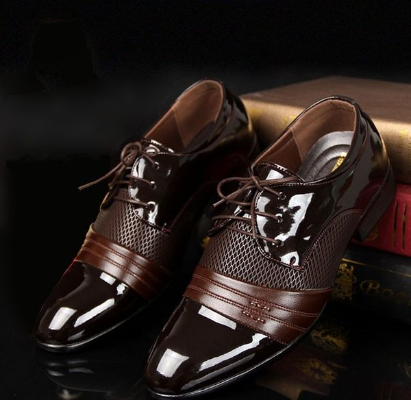 Classical Men Dress Flat Shoes Luxury Mens Business Oxfords Casual Shoe Casual Leather Shoes