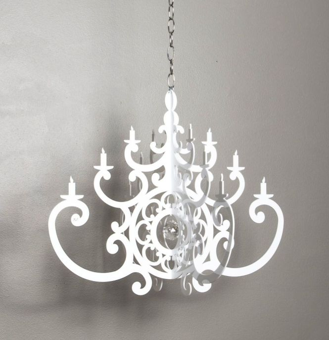 New In Our Online Boutique Acrylic White Chandelier Mobile