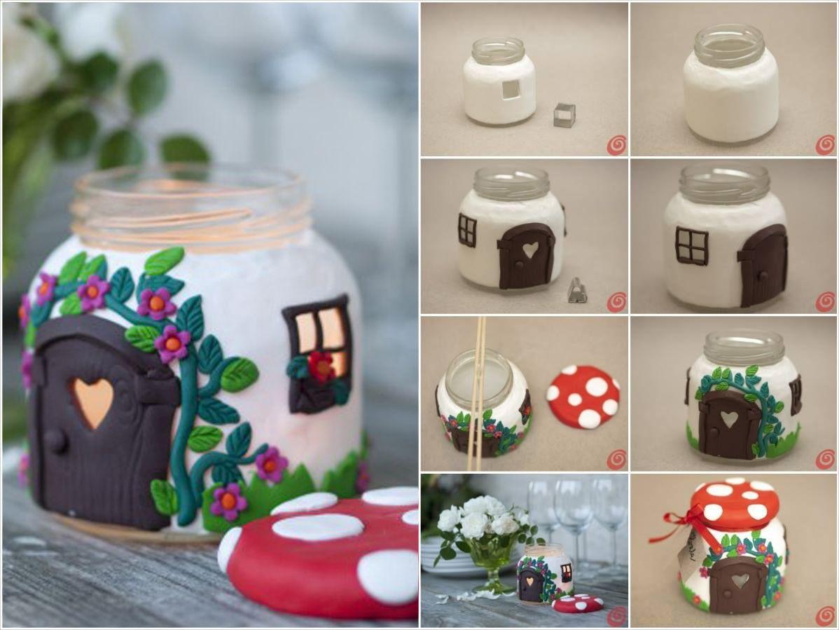 DIY tea light with fimo DIY Pinterest Fimo, Craft