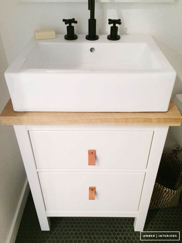 Small bathroom makeover stunningly affordable sink bo solve