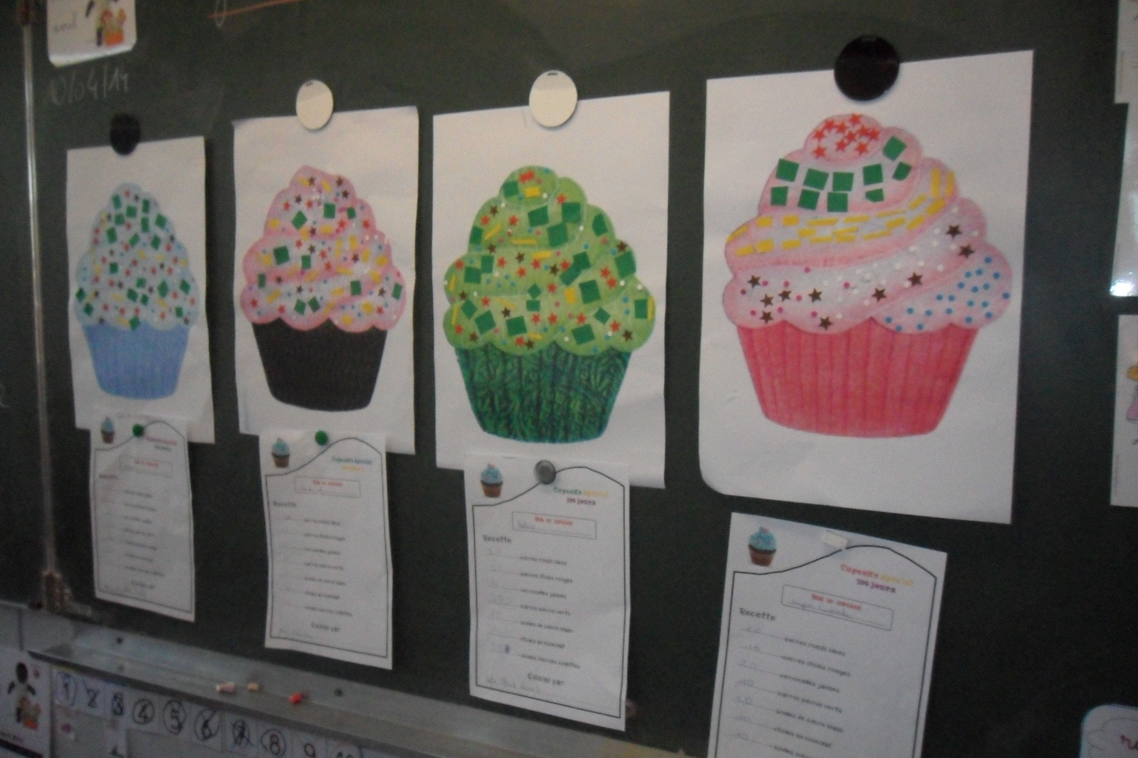 Les Cupcakes Special 100eme Joour D Ecole Situation