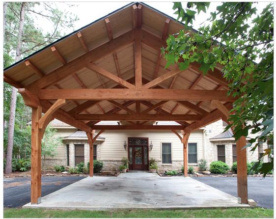carport timber frame style Room ideas Pinterest