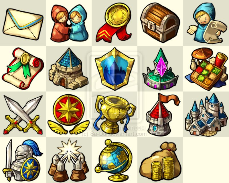 Nirvaniverse Game Icon set by SaDui game user interface