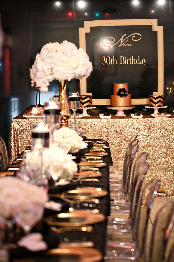 celebrations_30th_Birthday_Black_Gold_ Decor062 Wedding