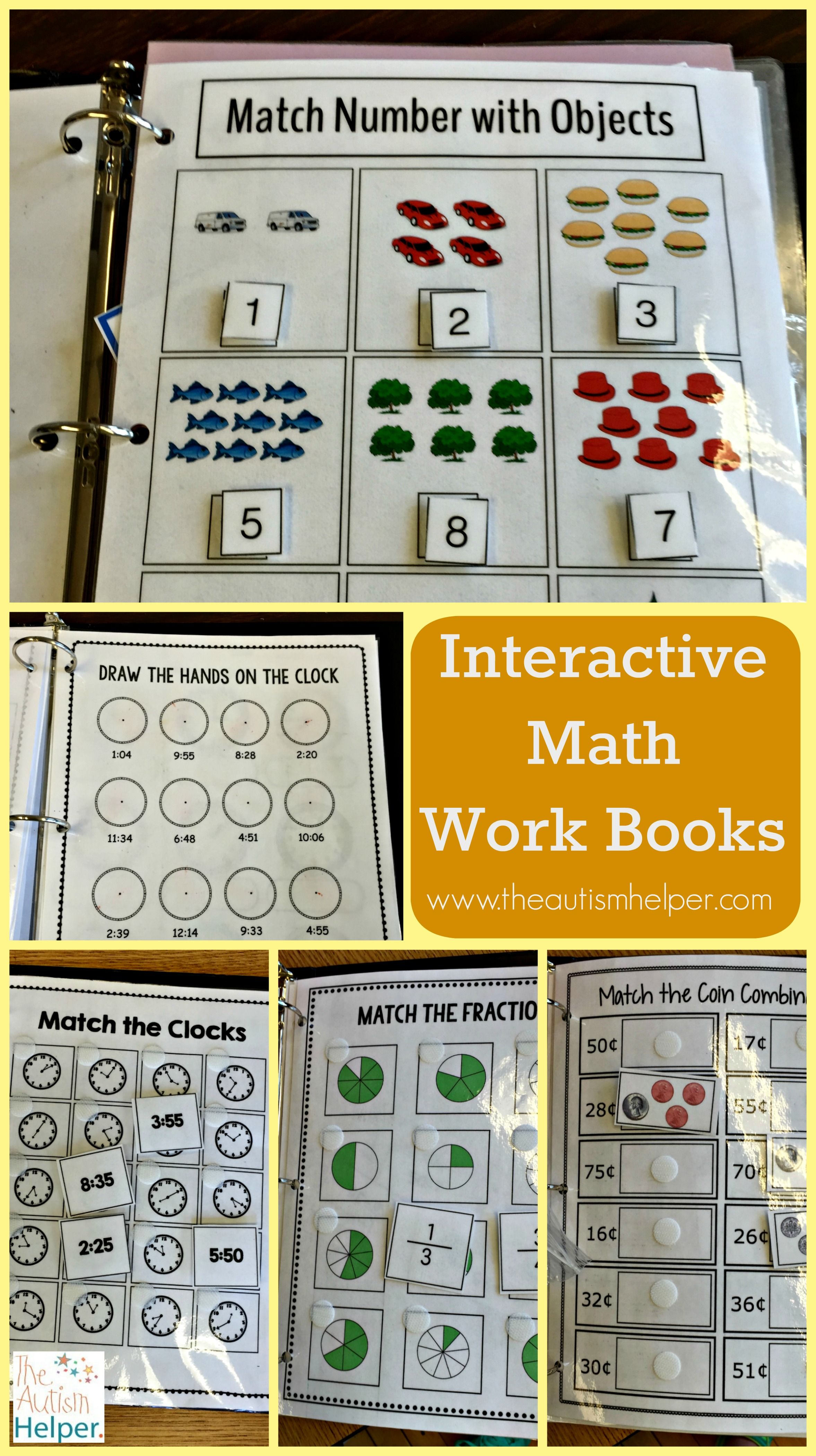 Interactive Math Work Books