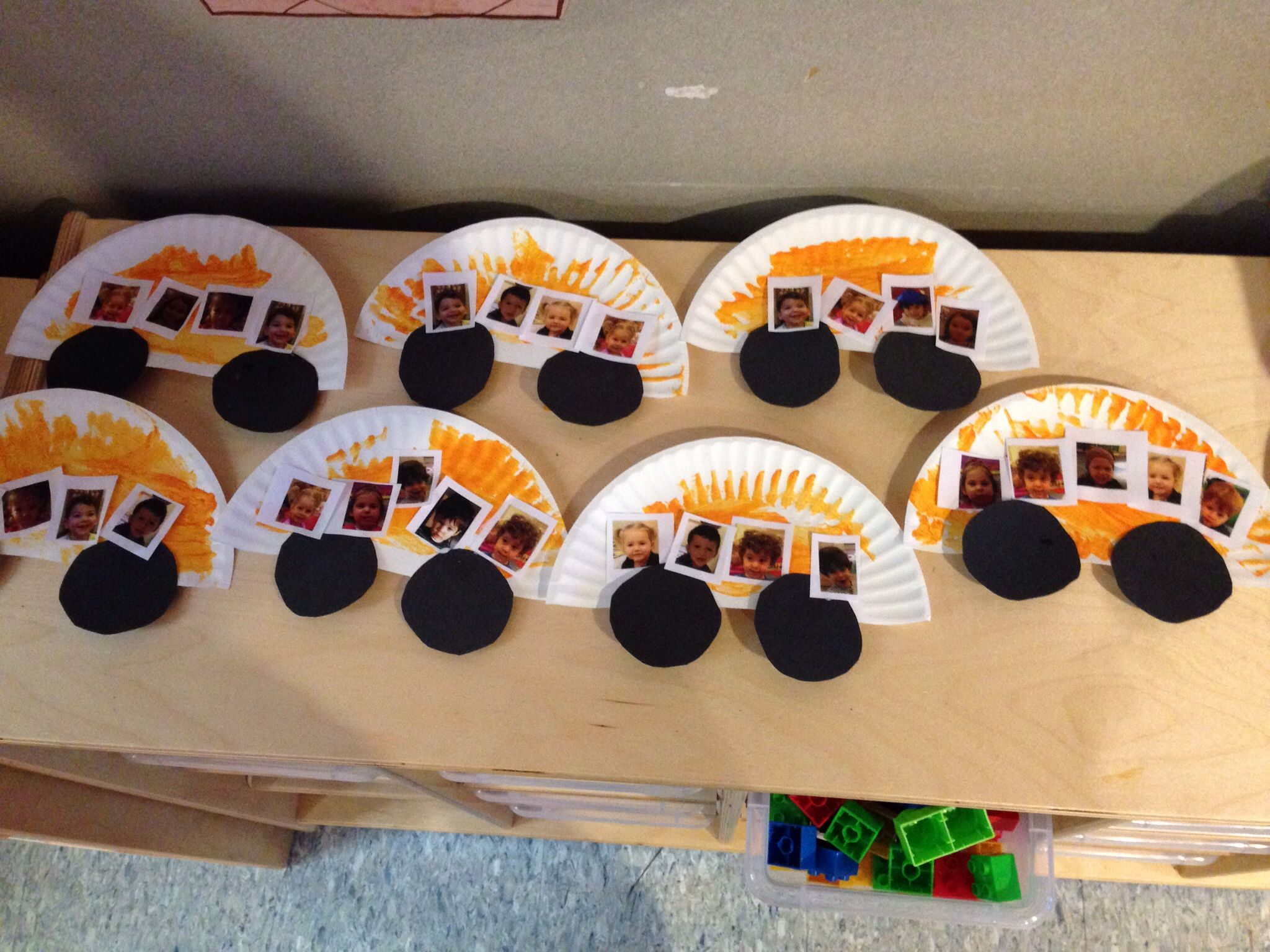 Easy School Bus Art For 2 Year Olds Half A Paper Plate Some Paint And Pictures They Choose