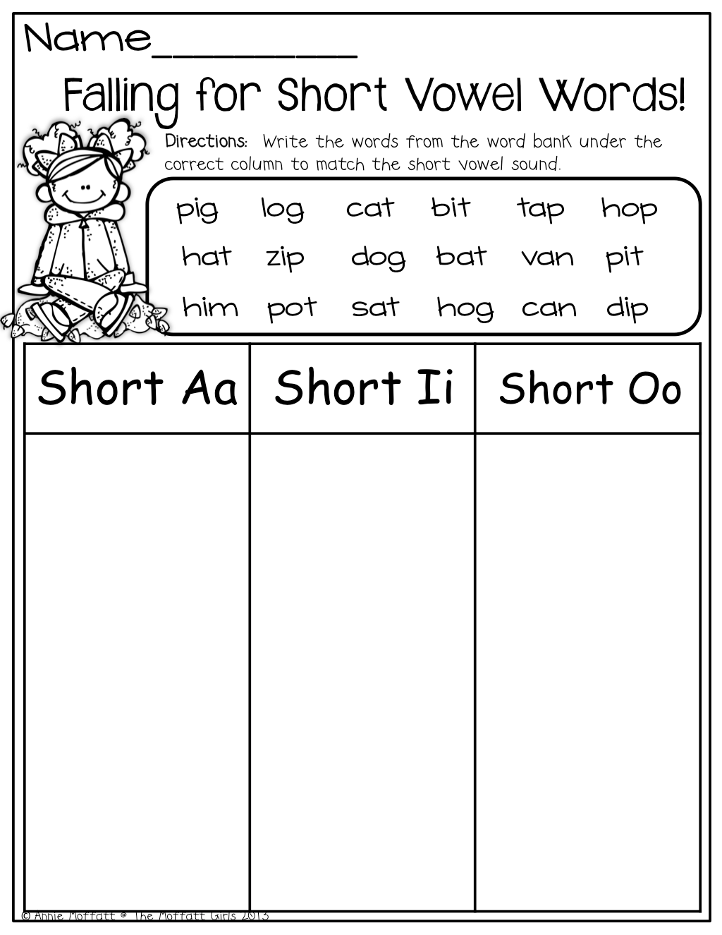 Short U Word Sort Worksheet