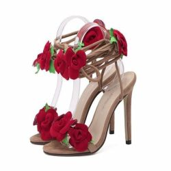c689ff7b24 Red Heels Women With Flowers | Gardening: Flower and Vegetables