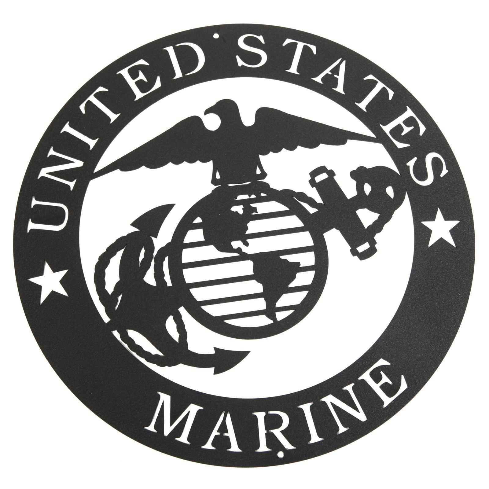 Marines Corps Emblem Metal Silhouette Marine corps