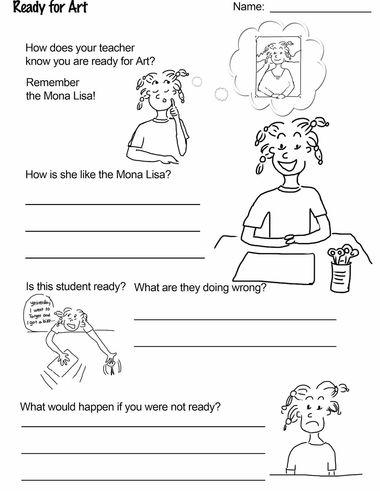 Free Worksheet Download From Art Rules A Booklet That