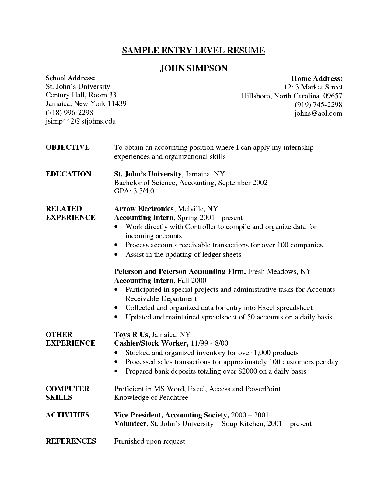 Senior Financial Accountant Resume Template Entry Level Accounting .