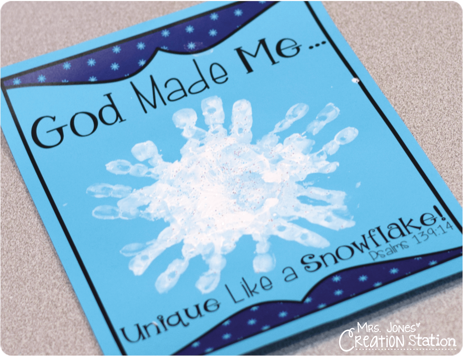 God Made Me Unique Like A Snowflake