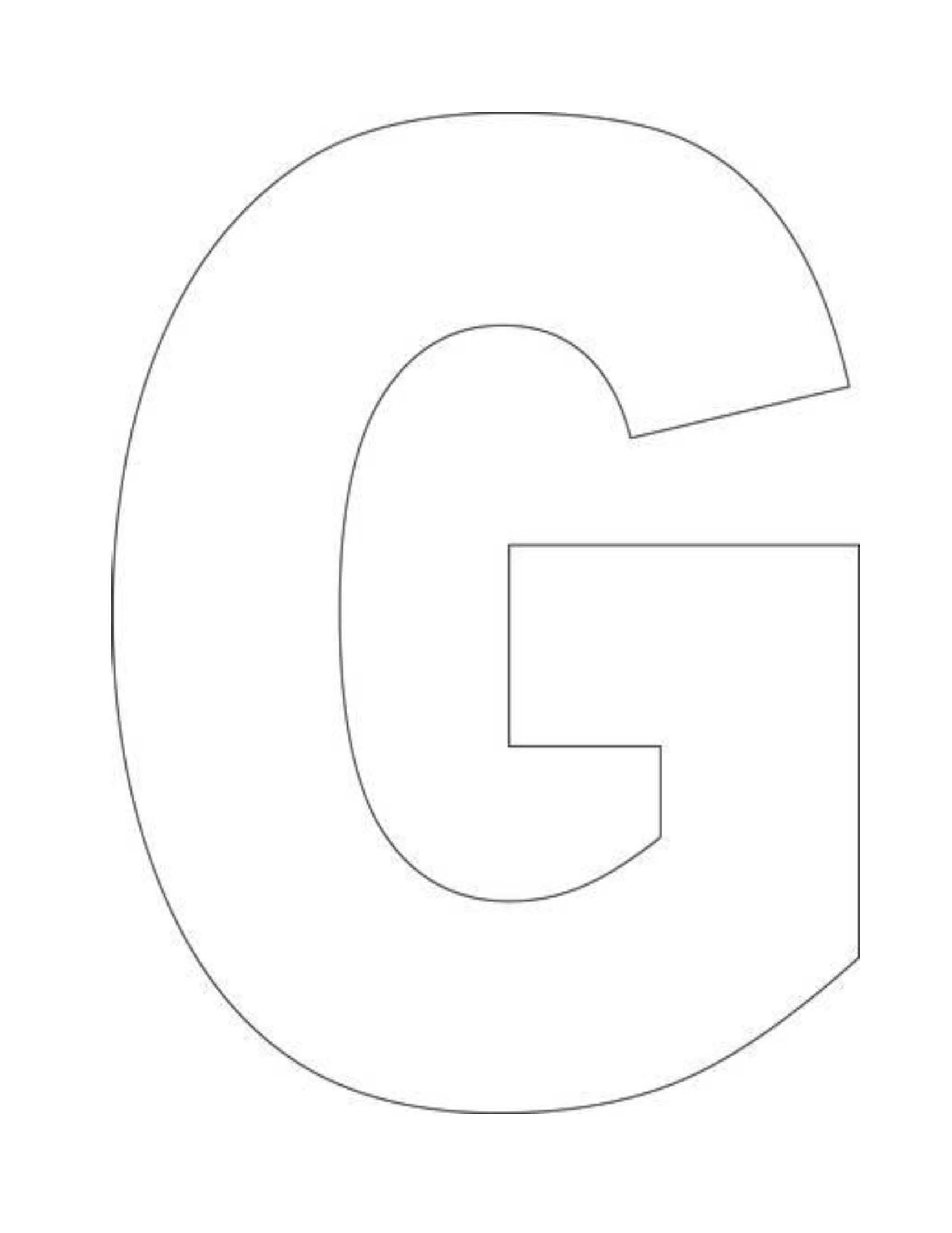 Alphabet Letter G Template For Kids
