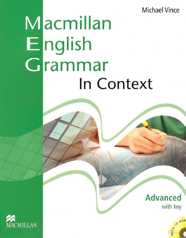 Macmillan English Grammar In Context Advanced