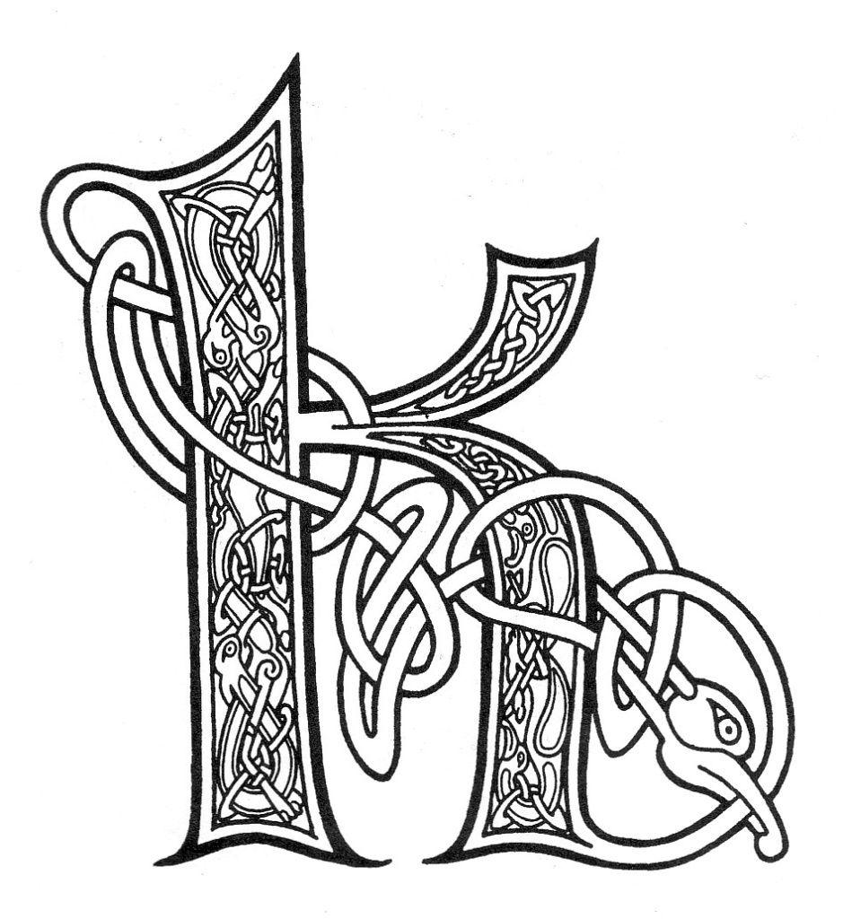 Celtic Letter k Сказки о жизни Letter Kk Pinterest