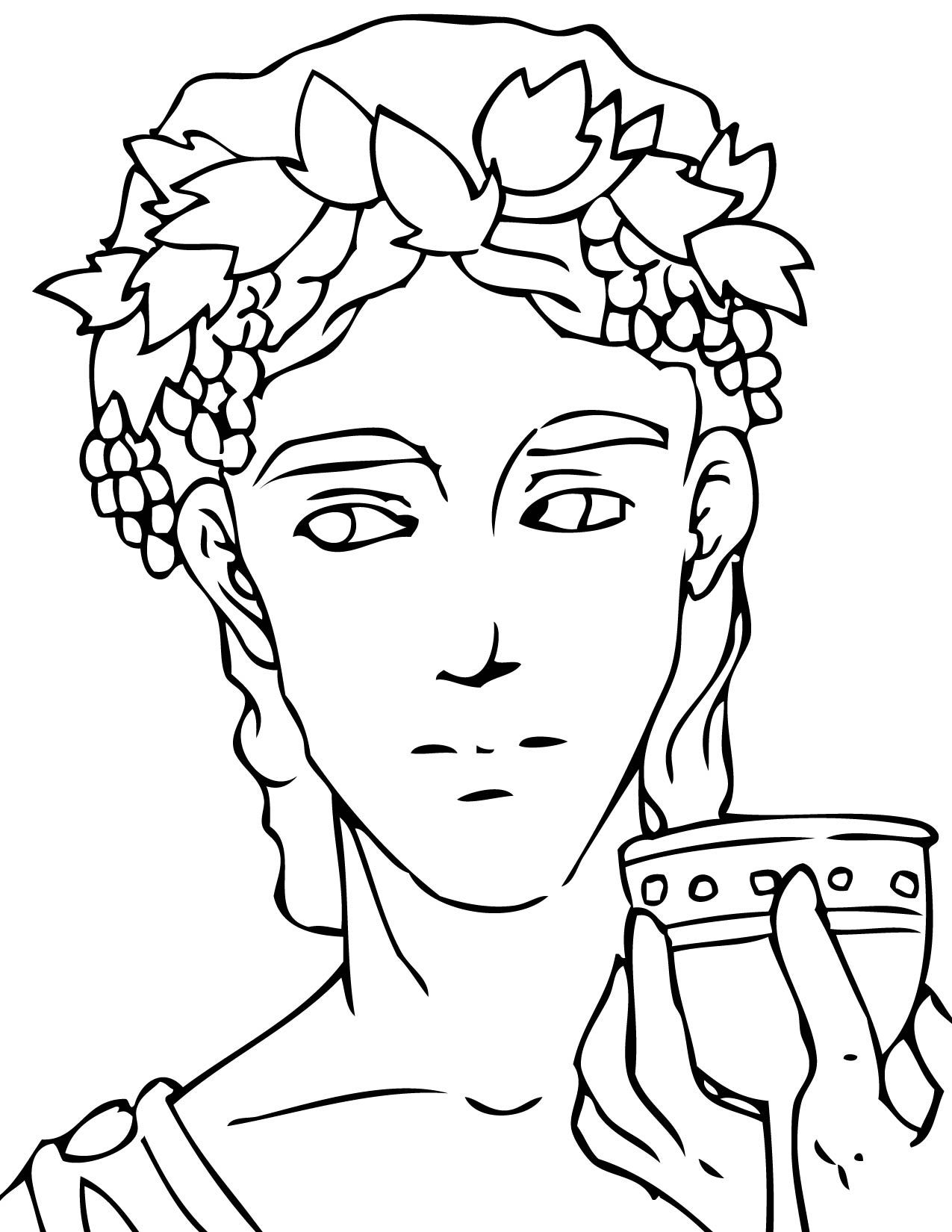 Greek Gods And Goddesses Coloring Pages