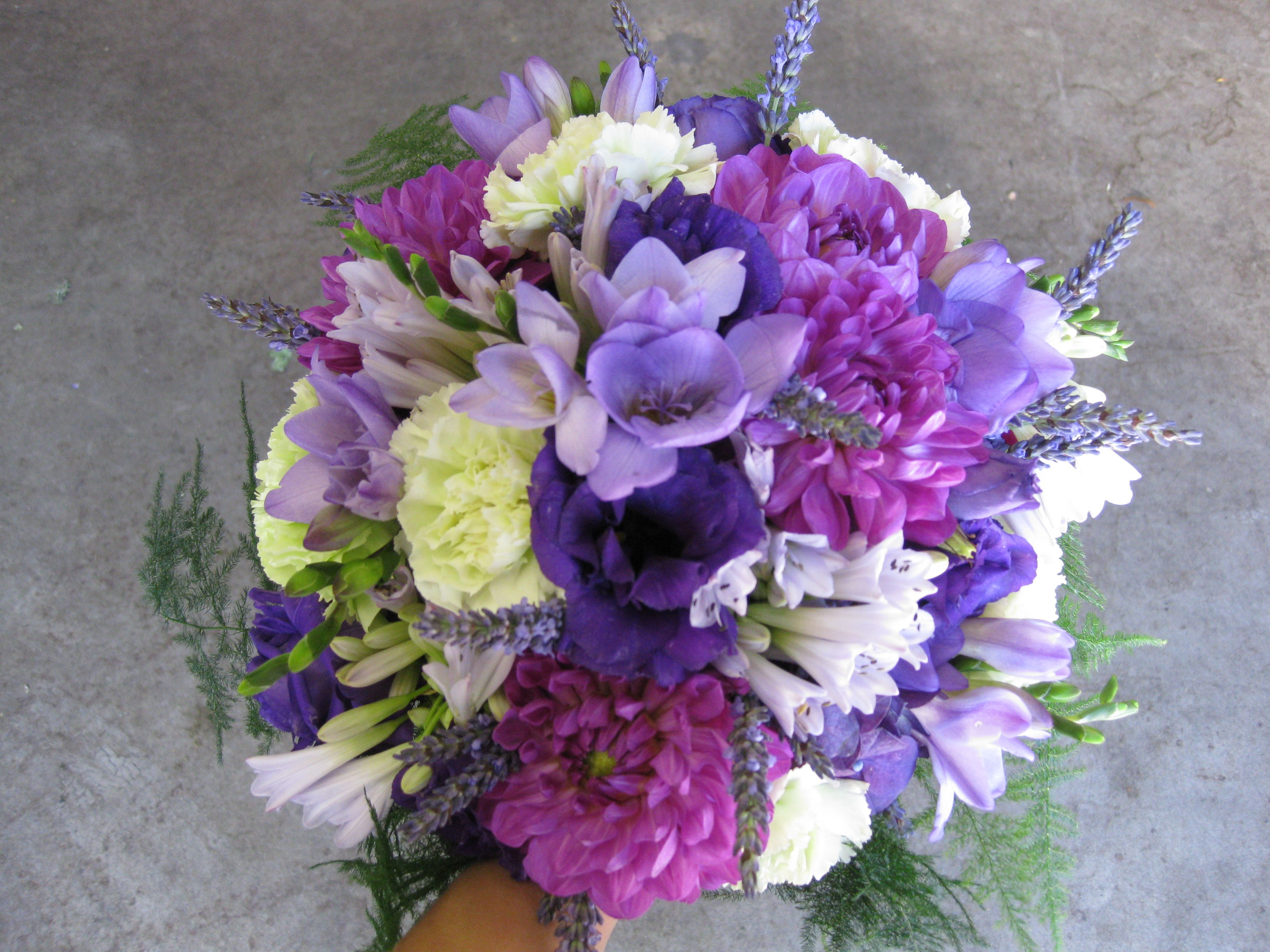 bouquet of flowers loved the smell of Lavender so we