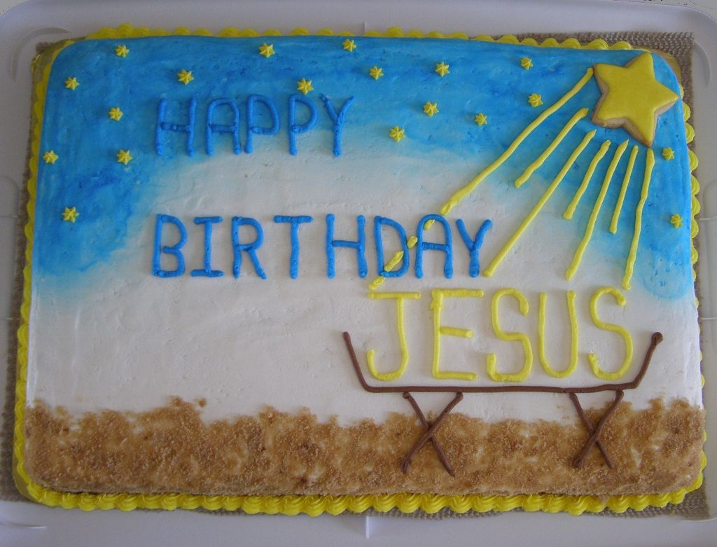 Happy Birthday Jesus Christmas Cake My Holiday Cakes