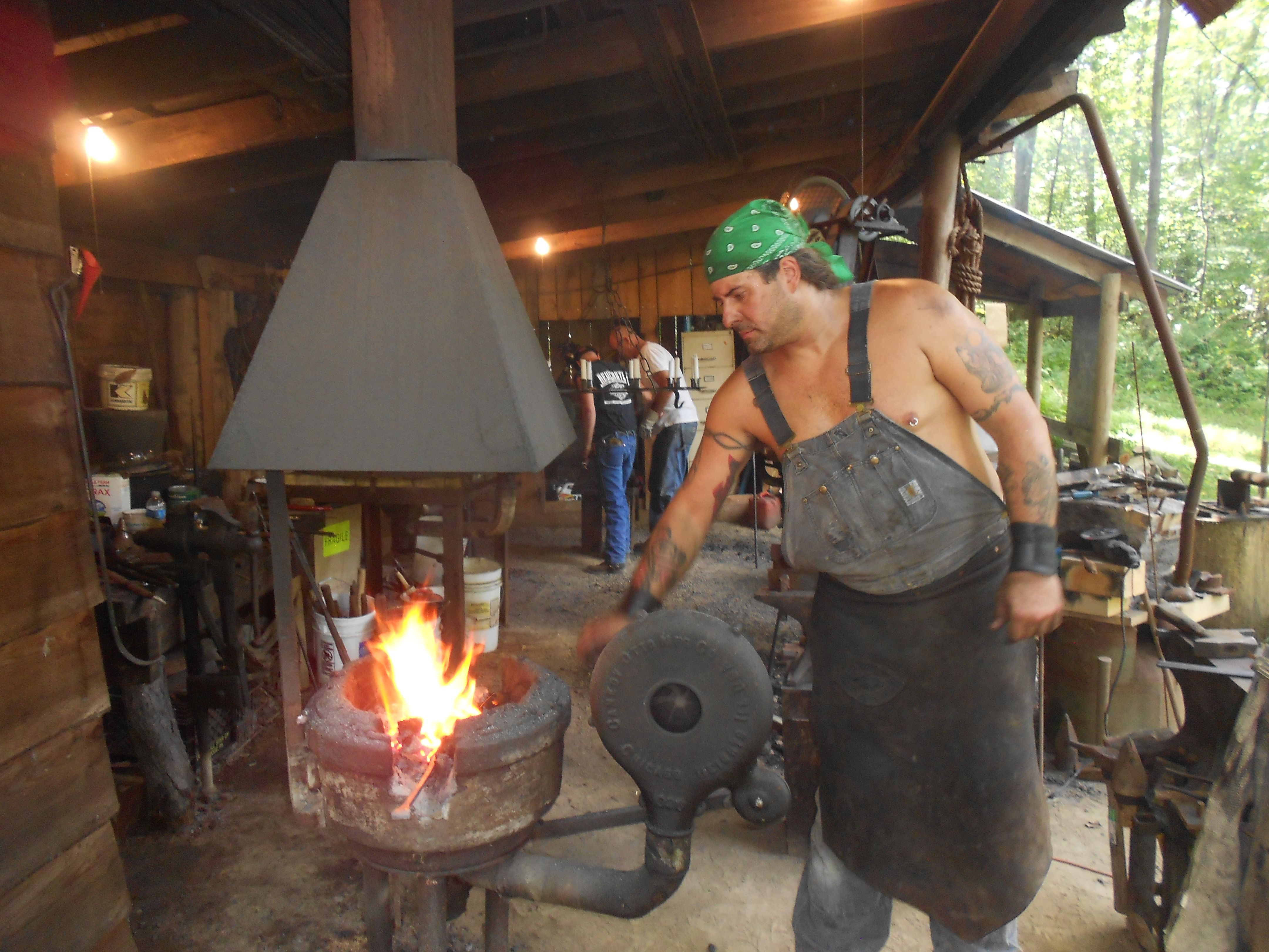 Hammer in my grandpa was a blacksmith, making horseshoes