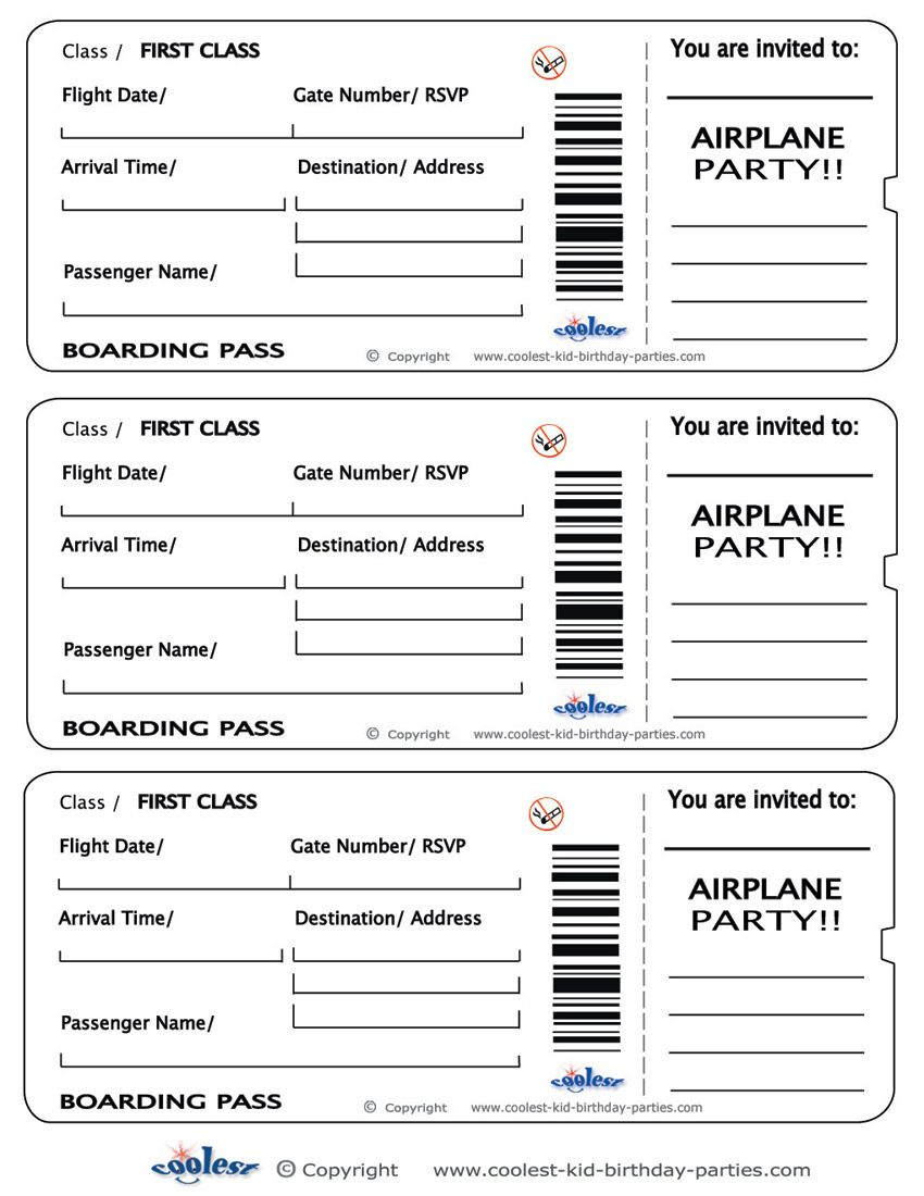 Printable Tickets Template Free roaring 20s party invitation – Printable Tickets Free
