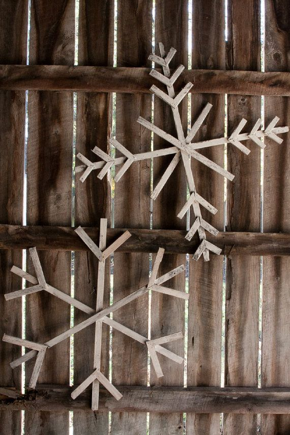 Giant Wood Snowflakes 20 On Etsy Projects Pinterest
