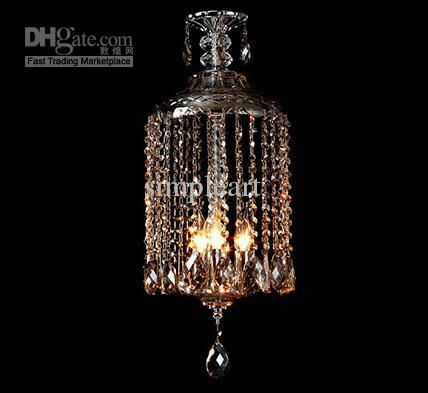 Whole Vintage Ciling Birdcage Crystal Chandelier Pendant Lamp Light Fixture Free Shipping On