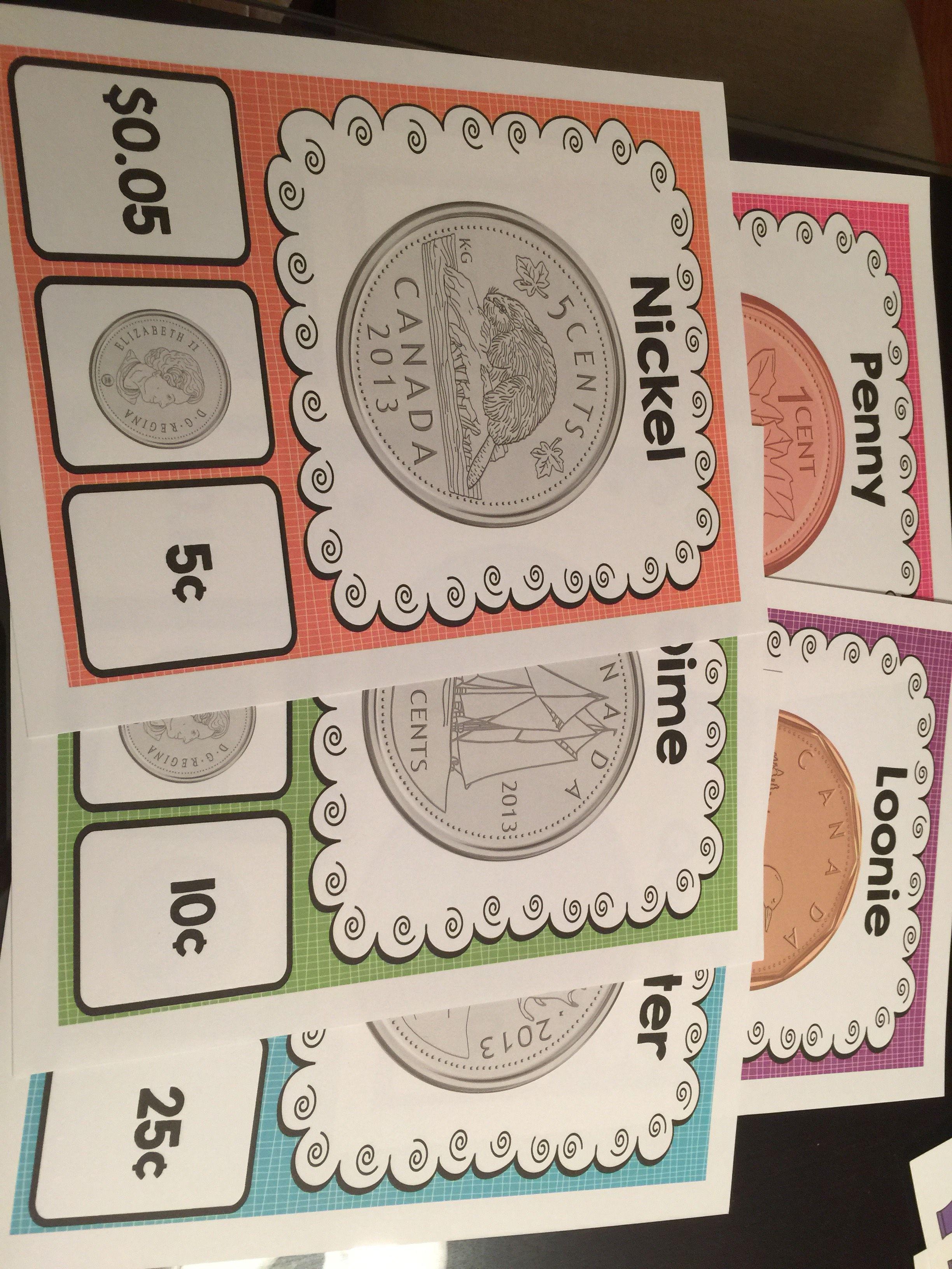Canadian Money Worksheets Kindergarten Activities Coin