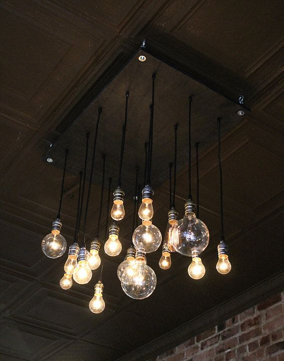 Chandelier With Vintage Bulbs