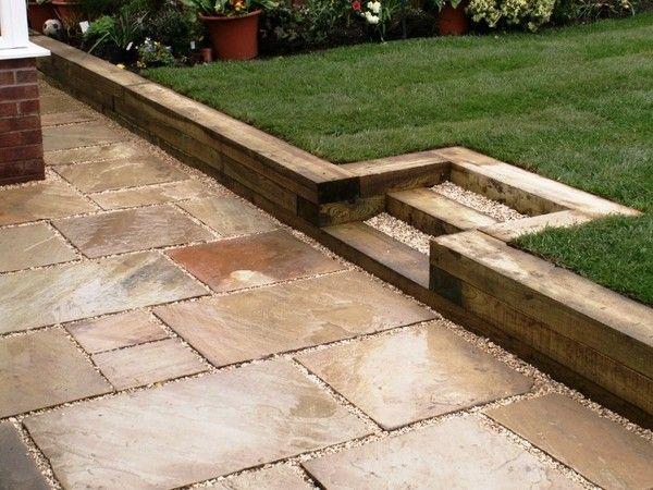 Garden Sleepers Ideas Garden Retaining Wall Ideas Wooden