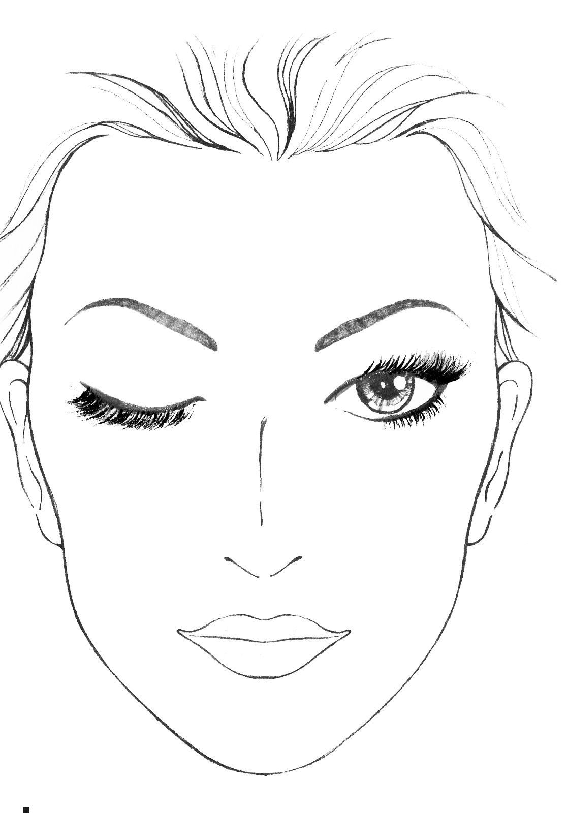 Blank Mac Face Charts Makeup Anarchist Pictures This Is
