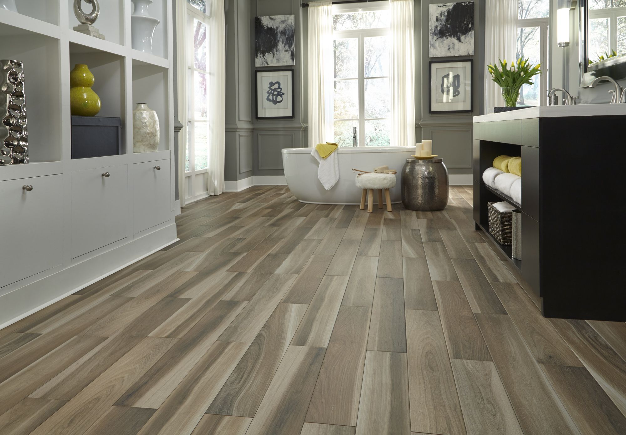 Brindle Wood Natural Porcelain WoodLook Tile Floors