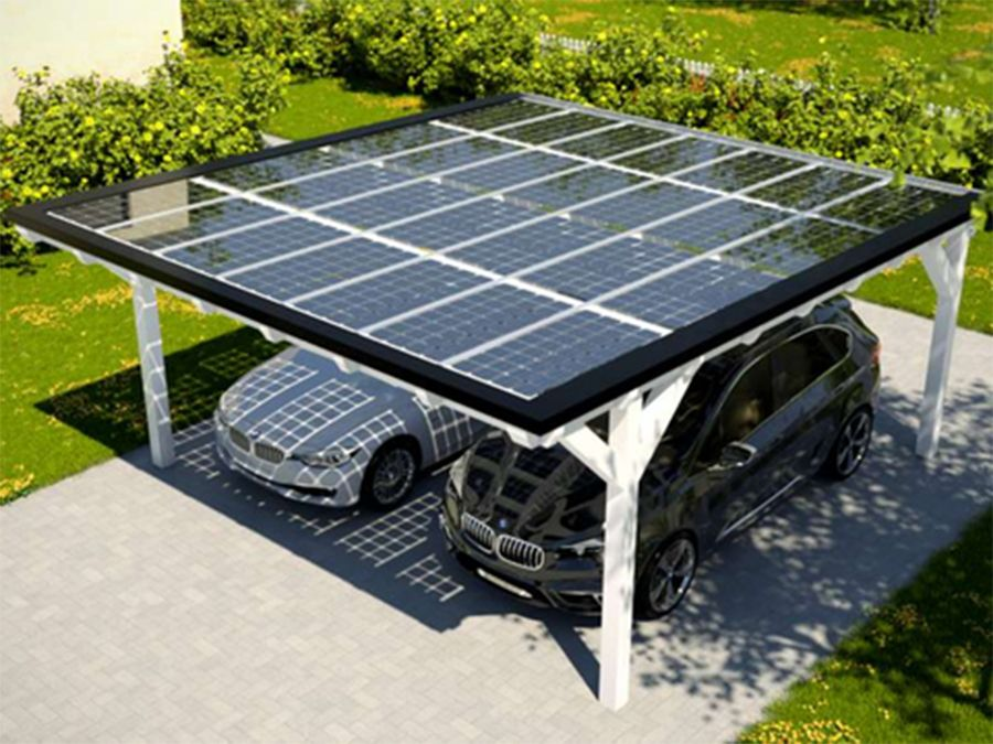 Solar Heisse Überdachung Holzbauweise carport / Hof