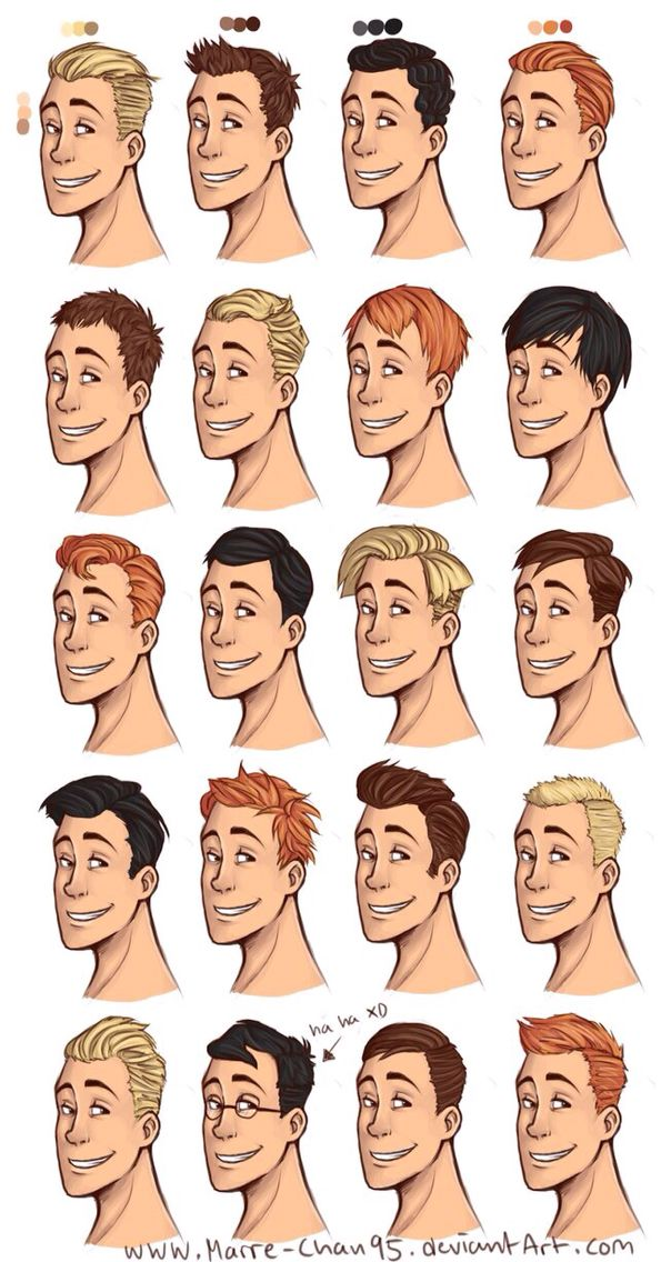 Male hairstyles drawing Drawing hair Pinterest Male