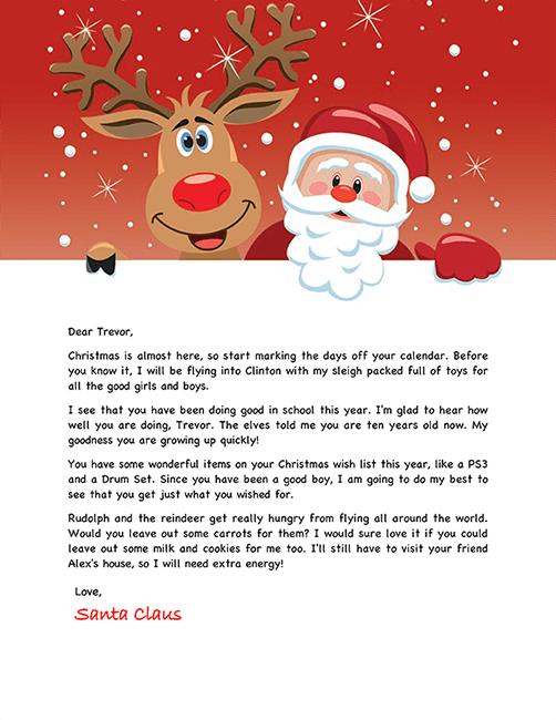 Free Santa Letter Holiday Christmas Pinterest