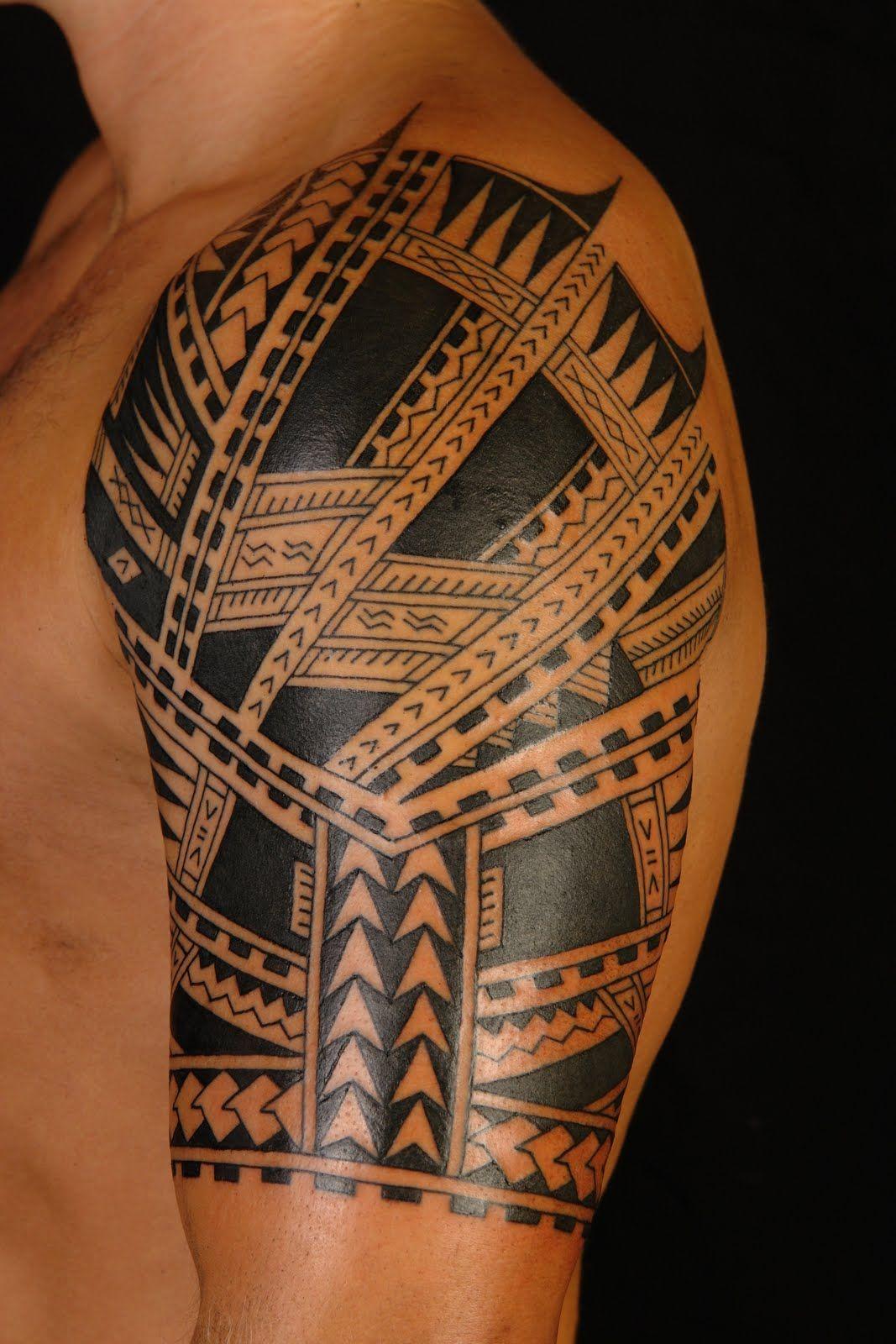 Maori Tattoo Sleeve Design deniz tattoo Pinterest