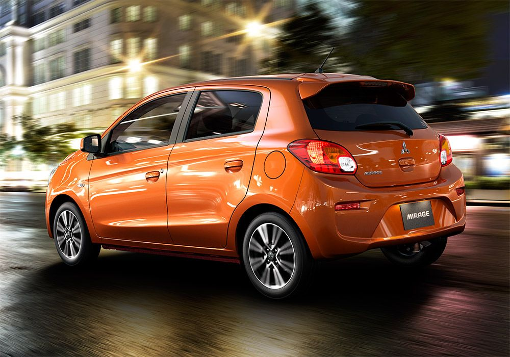 Another new stand out color for the 2017 Mitsubishi Mirage