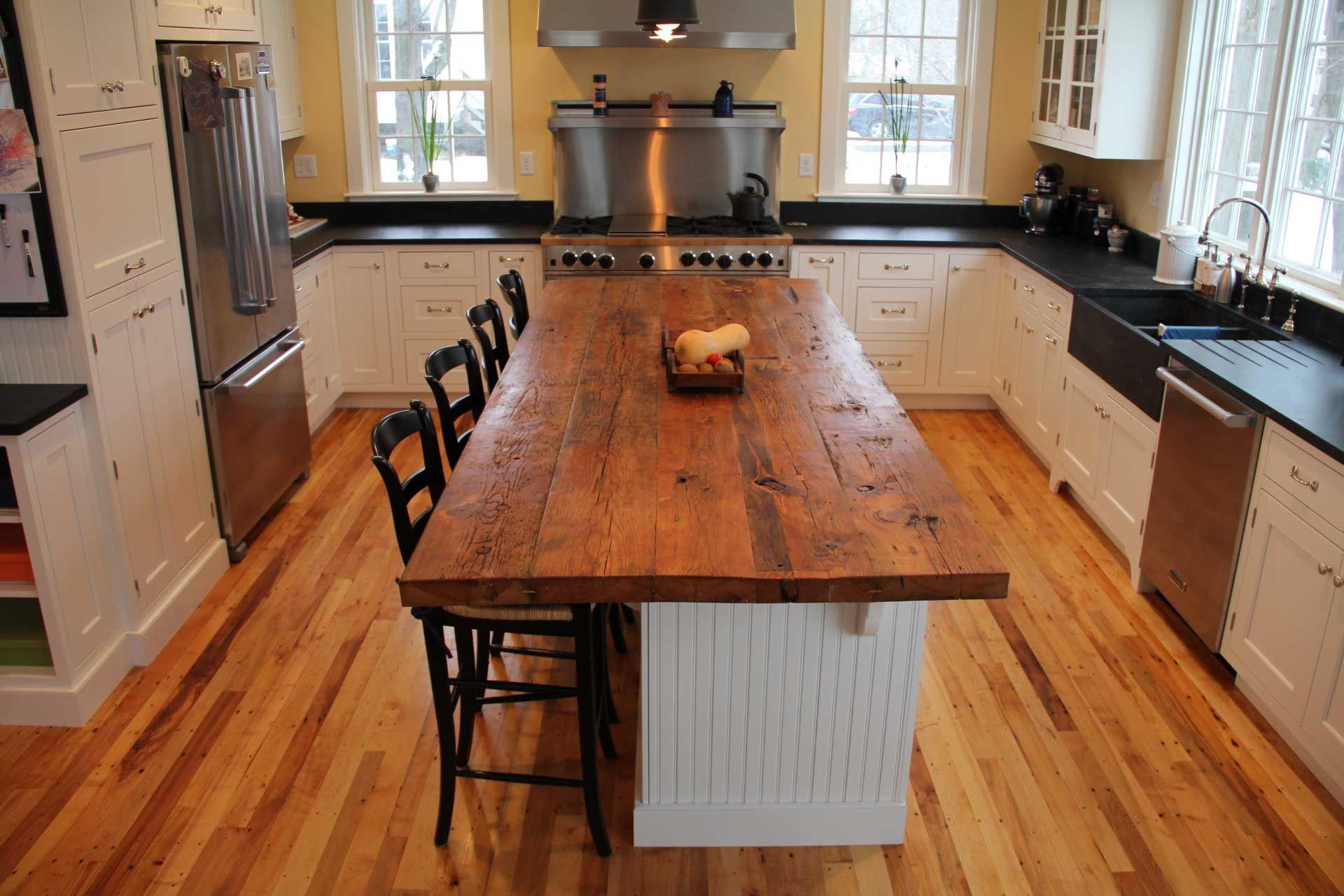 Longleaf Lumber reclaimed rustic white pine counter top