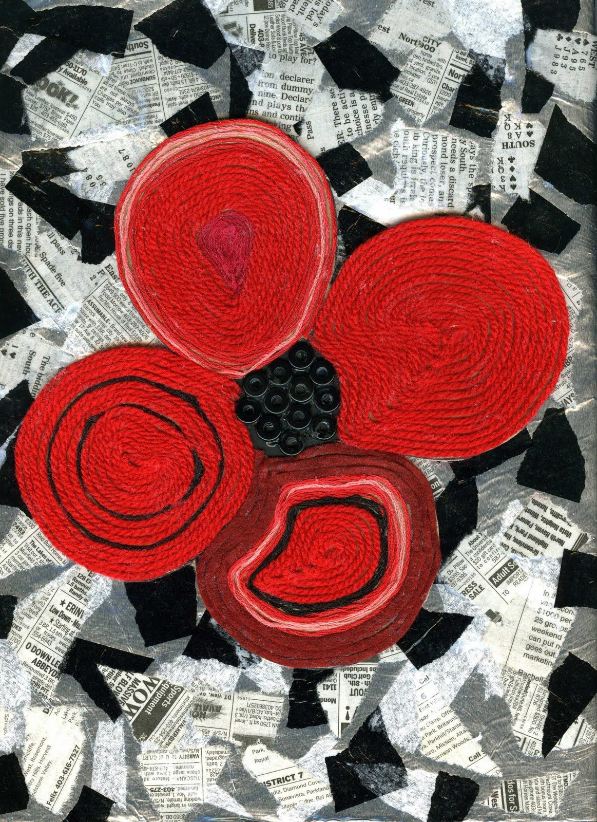 Remembrance Day Huichol Yarn Art