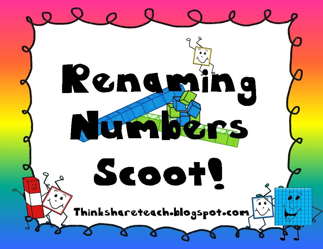 Think Share Teach Scoot Renaming Numbers